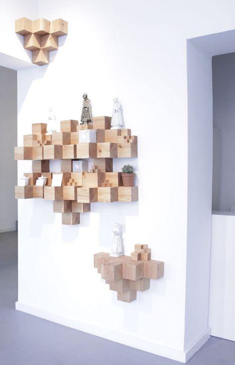 Cube En Bois Deco