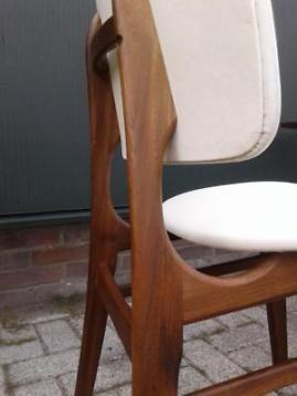 Spiksplinternieuw 4x eetkamerstoel 60 retro Deens design stoel vintage stoelen GU-93