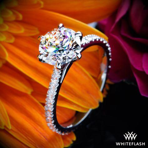 c11928ecc Cathedral Three Quarter French-Set Eternity Diamond Engagement Ring