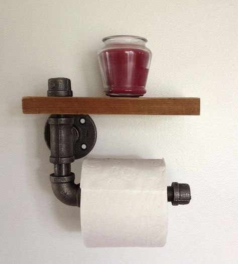 Reclaimed Wood & Pipe Toilet Paper Holder | Home Bathroom | Reclaimed PA | Scoutmob Shoppe | Product Detail