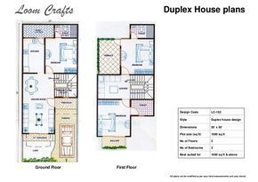 Image Result For House Plan 20 X 50 Sq Ft Duplex House Plans House Plans Luxury House Plans