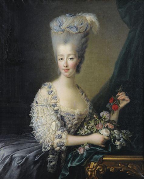 JEAN-BAPTISTE-ANDRÉ GAUTIER D'AGOTY PARIS(?) 1740 - 1786 PORTRAIT DE MADAME LA COMTESSE D'ARTOIS