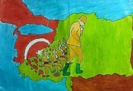 Canakkale Savasi Cizimleri Ogrenciler Icin Cizim Resim