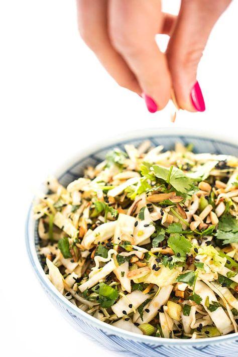 Green Cabbage Asian Slaw Recipe - The Lemon Bowl®