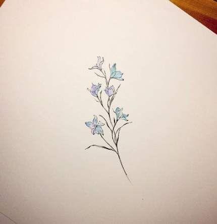 New Flowers Tattoo Ideas Larkspur 54 Ideas Larkspur Tattoo Larkspur Flower Tattoos Delphinium Tattoo