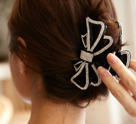 Women Octopus Hair Claw Clips Hairpin Butterfly Clamps Grips Black /& Brown Set