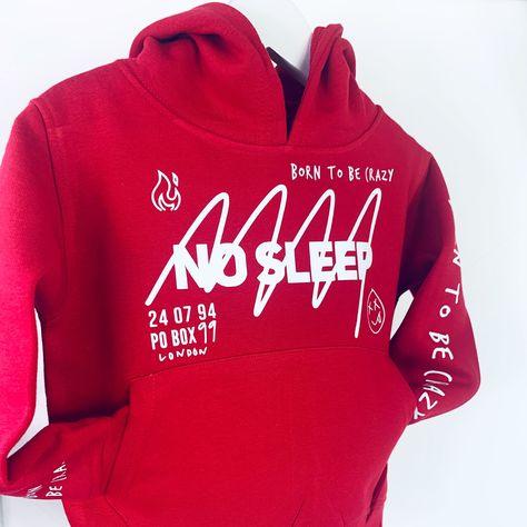 No sleep Hoodie Little Kids - 2-3Y / Red / Pink