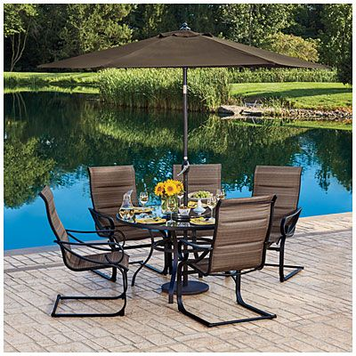 Wilson U0026 Fisher® Tahoe Spring Rocker Chair 6 Piece Dining Set At Big Lots.  | GARDENING | Pinterest | Dining, Backyard And Outdoor Spaces