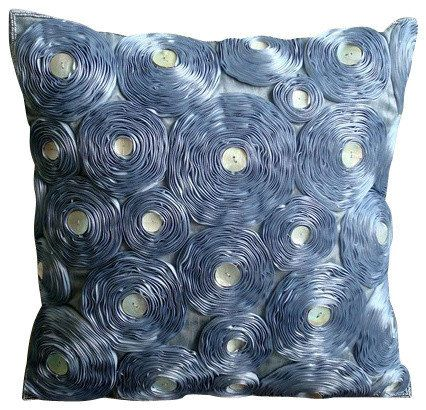 Art Silk Gray Sofa Pillow 16x16