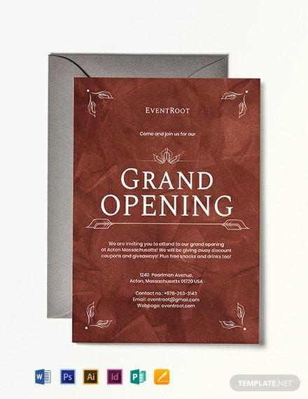 Restaurant Grand Opening Invitation Template Free Pdf Word Psd Apple Pages Illustrator Publisher Grand Opening Invitations Invitation Template Printable Invitation Templates