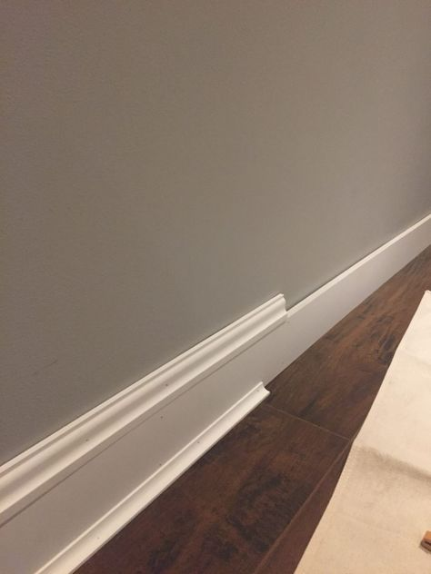 Update Your Space Using Wood Trim – Bonus Room Makeover DIY Baseboards Home Renovation, Home Remodeling, Home Improvement Projects, Home Projects, Home Improvements, Baseboard Trim, Baseboard Ideas, Baseboard Heater Covers, Baseboard Styles
