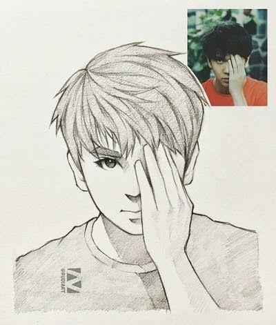 Menakjubkan 30 Gambar Sketsa Cowok Keren Pria Indonesia Ini Ubah 10 Foto Orang Jadi Kartun Hasilnya Download 7 Cowok I Sketsa Cara Menggambar Gambar Anime