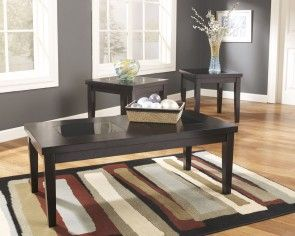 Talk About Sleek And Chic Ultra Clean Lines And A Rich Dark Finish Are A Perfect Pairing Add Tempered Glass Inserts To Th Living Room Table Sets Coffee End Tables 3