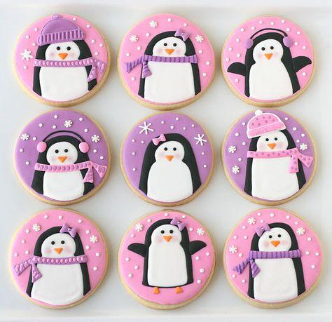 Super cute penguin cookies