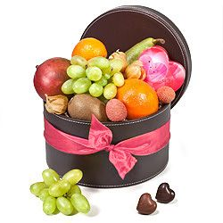 10 best chocolate gift baskets ideas images on pinterest gift heres a stylish and delicious romantic gift a beautiful leather hatbox with an assortment of negle Choice Image