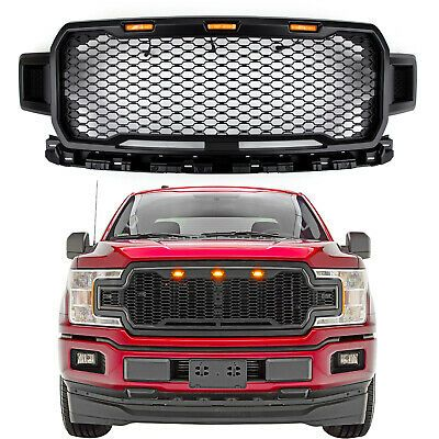 New Style Black Grill Grile Led Honeycomb Raptor Style For Ford