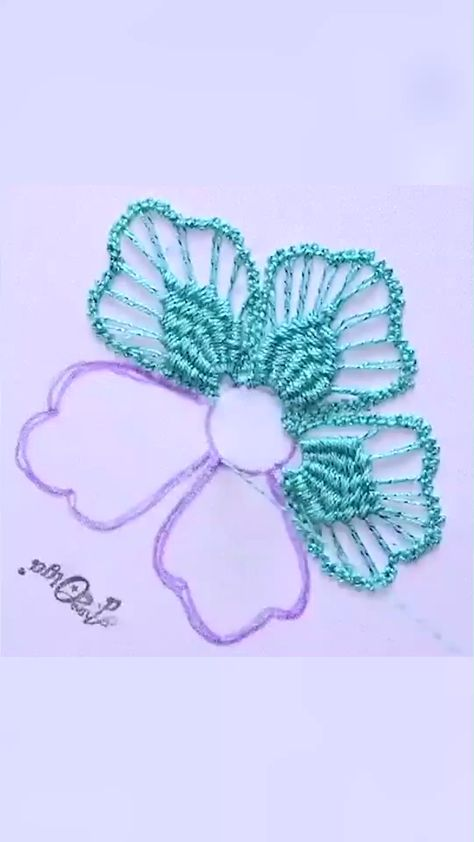 ROMANIAN MACRAMÉ FLOWER , How to Embroider a Romanian Macramé Flower @artesd_olga