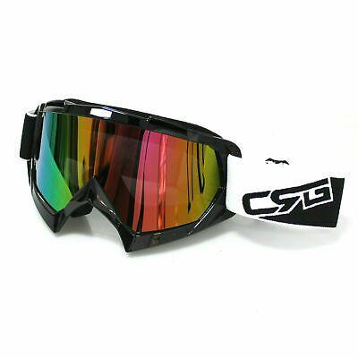 Motorbike Motocross Dirt Bike Off Road Atv Goggles Single Tinted Lens Eyewear In 2020 Motocross Bike Skiing