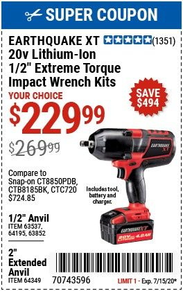 Pin By Noahmoore On Tools In 2020 Impact Wrench Harbor Freight Tools Wrench