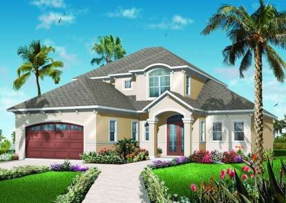 House Plan 575 00006 Mediterranean Plan 2 208 Square Feet 3 Bedrooms 2 5 Bathrooms Mediterranean Style House Plans Florida House Plans Mediterranean House Plans