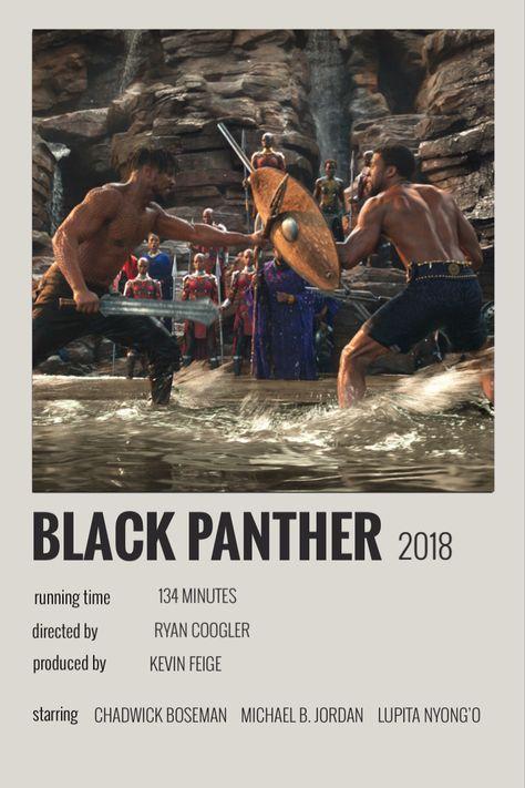 black panther polaroid poster