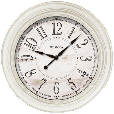 Westclox Clocks Antique White Farmhouse 20 Wall Clock Farmhouse Wall Clocks White Farmhouse Rustic Wall Clocks