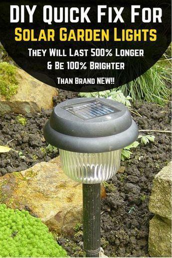 Diy Quick Fix For Solar Lights Outdoors