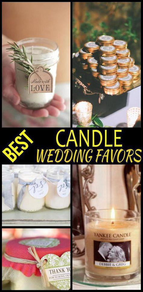 Candle Wedding Favors Luscious Wedding Favors Etc Pinterest