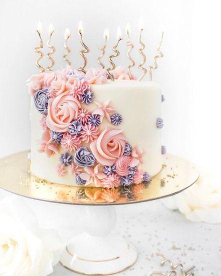 Fabulous 32 Ideas Birthday Cake Elegant Flowers Simple Flowers Cake Personalised Birthday Cards Veneteletsinfo