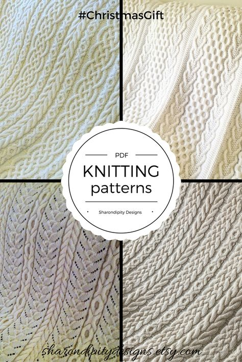 PDF Cable Knitting Patterns, Celtic Knitting Patterns, Irish Knitting Patterns for the knitter on your Christmas list