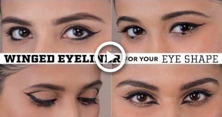Winged Eyeliner For Your Eye Shape Hooded Deep Set Almond