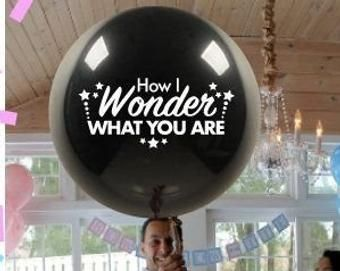 Twinkle Twinkle Little Star Gender Reveal Balloon How I Wonder What You Are Gold balloon  with Tassel First Birthday Decoration Ideas