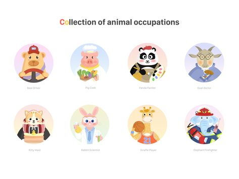 A collection of animal occupations
