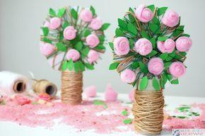Rozane Drzewko Szczescia Z Rolki Diy Moje Dzieci Kreatywnie Mothers Day Crafts Crafts Kids Art Projects