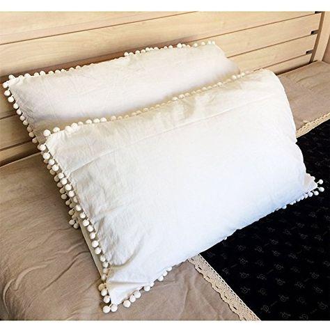 Rayroger Pom Pom Fringe Pillowcases