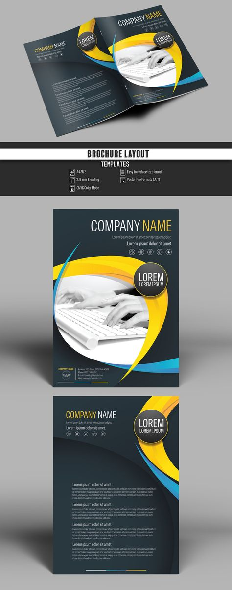 Booklet stock graphic design and motion graphic templates