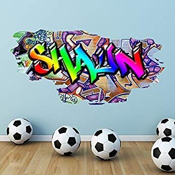 Wall Smart Designs Multi Volle Farbe Personalisiert Graffiti Name Ziegel Wandsticker Aufkleber Grafik Wandtattoos Graffiti Fur Die Wohnung Aufkleber Fur Wande