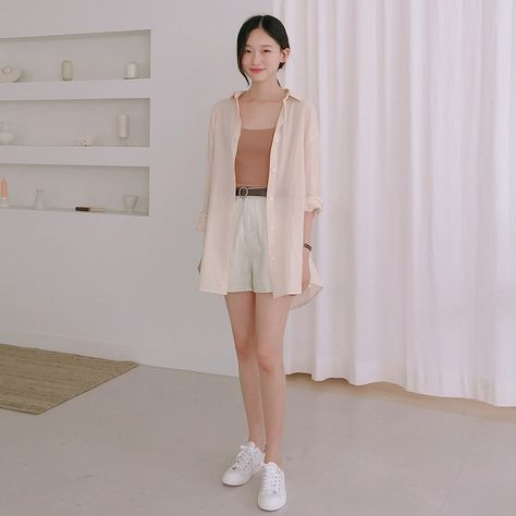 ESSAYBasic Button-Up Cotton Shirt   mixxmix