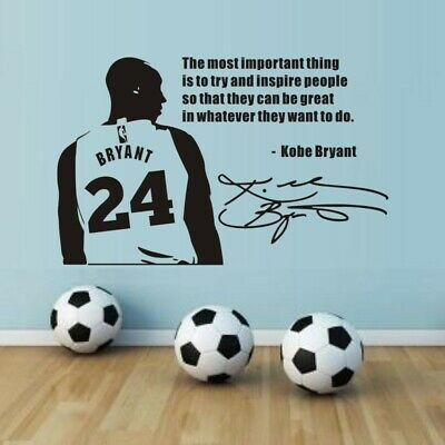 Sports Generation Carved Wall Stickers Kobe Bryant Basketball Wall Decal Decor
