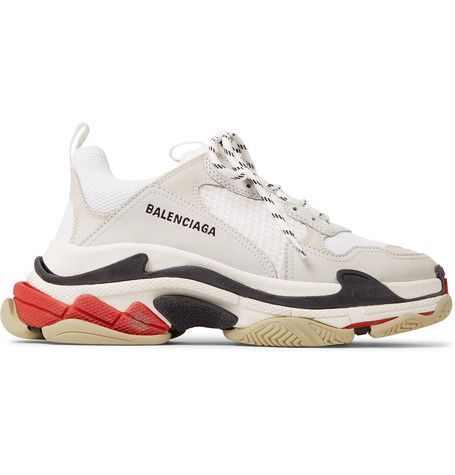 cheapest detailed images buying now Balenciaga - Triple S Leather and Mesh Sneakers in 2019 ...