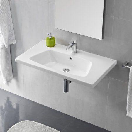 Bissonnet Universal Veo Porcelain 24 Wall Mounted Bathroom Sink