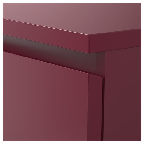 Malm Ikea Cassettiera 3 Cassetti.Malm Cassettiera Con 3 Cassetti Rosso Scuro 80x78 Cm Malm