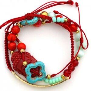 44d9f9f35de1 Pulsera India Roja. Compra tus accesorios desde la comodidad de tu casa u  oficina en