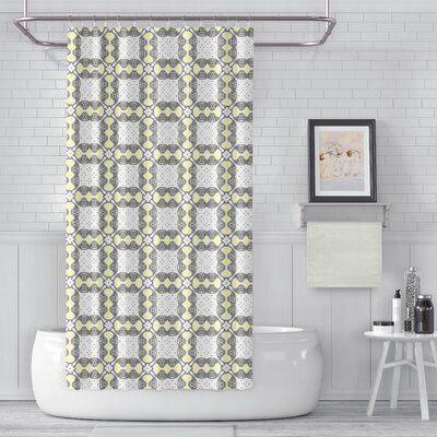 Winston Porter Deerfield 2 Piece Shower Curtain Set Colour Yellow