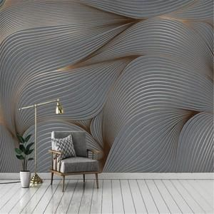 3d Wallpaper Modern Art Mural Retro Nostalgia Abstract Lines Photo Wall Painting Living Room Tv Sofa Background Wall In 2021 Wall Painting Living Room Wall Wallpaper Living Room Paint