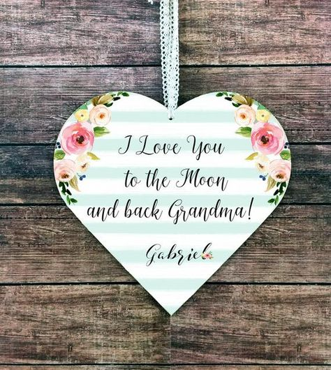 Grandma Gift For Love You To The Moon From Granddaughter Grandson Gran