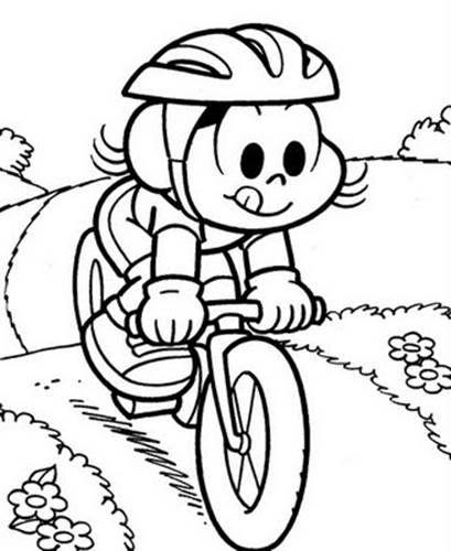 Magali De Bicicleta Desenhos Para Colorir Desenhos Para