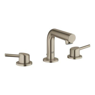 Grohe Concetto Mid Arc Widespread Bathroom Faucet With Drain