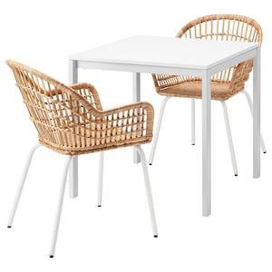 NILSOVE Armchair, rattan, white IKEA in 2020 | Small