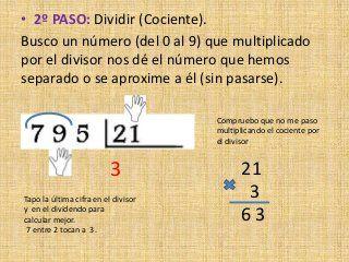 Como Dividir Por Tres Cifras Paso A Paso Divisiones De Dos Cifras En El Divisor Divisiones De Dos Cifras